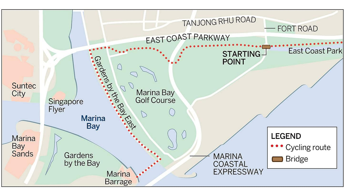Cycle to Marina Bay from East Coast, Lifestyle News & Top Stories ...