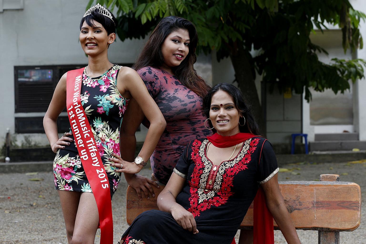 Beautiful transgender women pink thank for