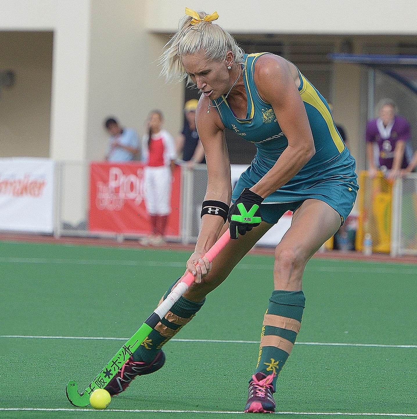 Australia's Jodie Kenny in action during last week's TPG International Tri-Series women's hockey tournament.