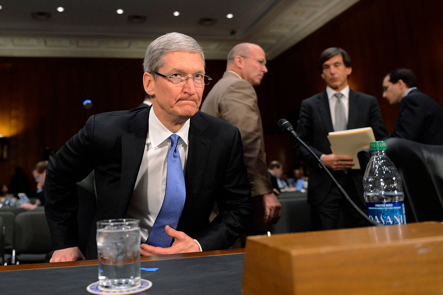 In an open letter posted on Apple's website last Tuesday, chief executive Tim Cook (above) refused a federal magistrate judge's order that the company help the FBI access data stored on the iPhone used by Syed Rizwan Farook, one of the gunmen in the San B
