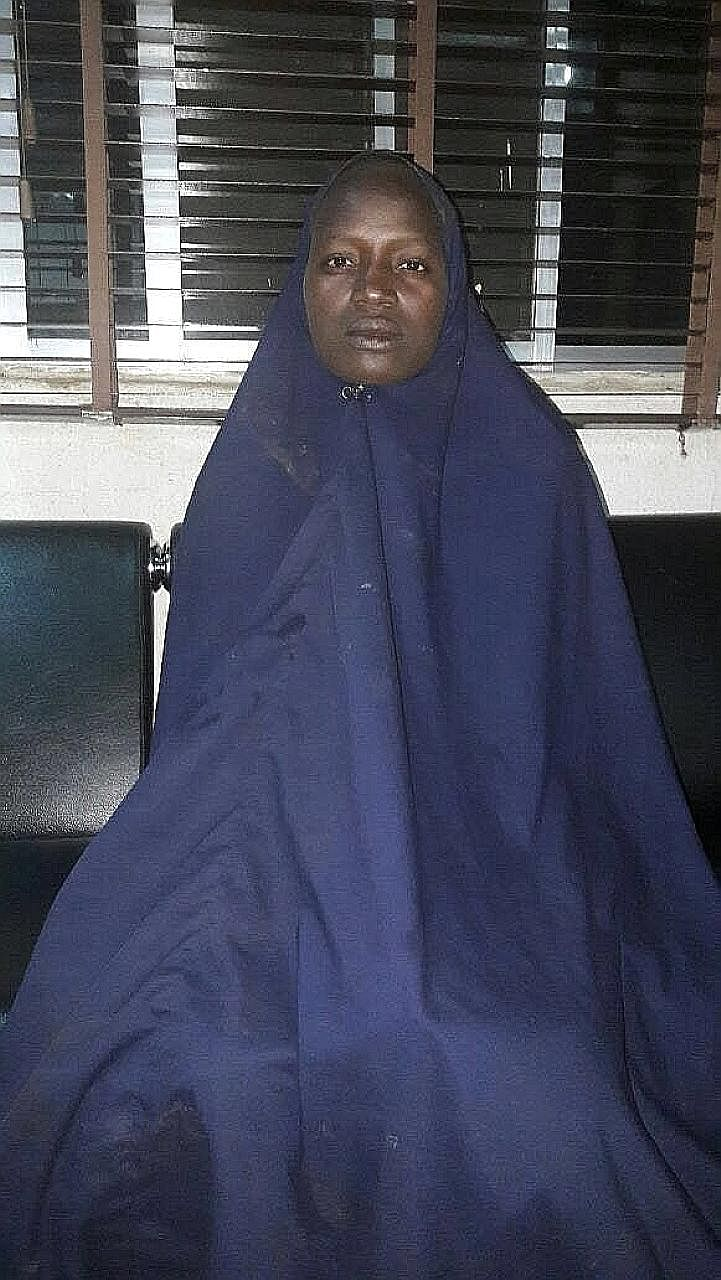 An undated picture released on Thursday by the Nigerian army of the second rescued schoolgirl. She was one of the nearly 300 girls kidnapped by Boko Haram militants from their school in Chibok more than two years ago.