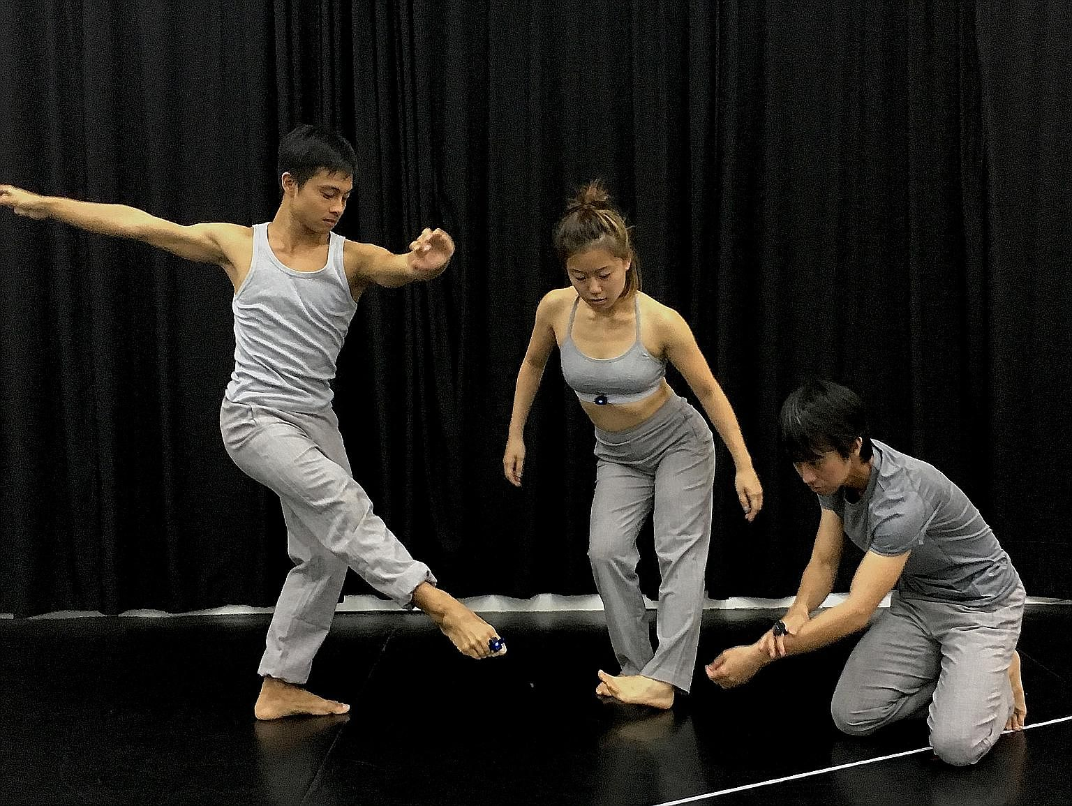 Kumarajiva stars (from far left) Audrey Luo, Timothy Wan and Jodi Chan.