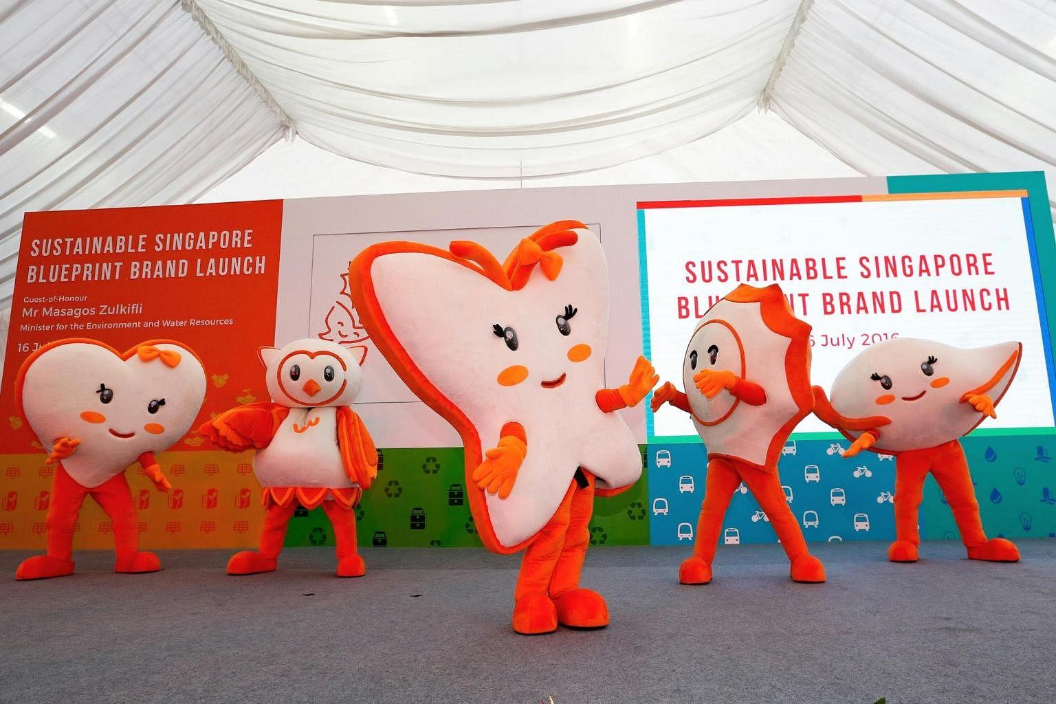 5 mascots to urge citizens to adopt greener ways singapore news 5 mascots to urge citizens to adopt greener ways singapore news top stories the straits times malvernweather Choice Image