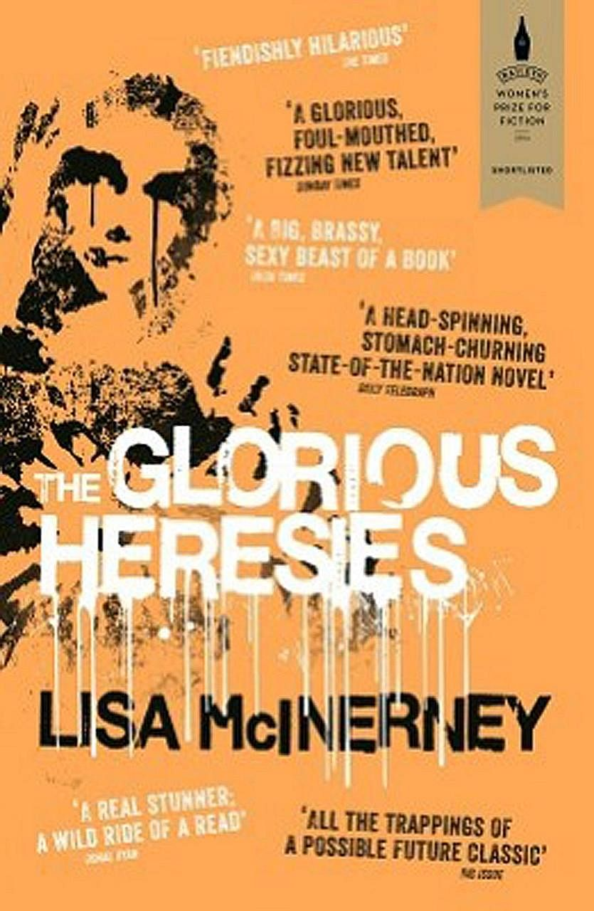 Award-winning The Glorious Heresies (above) by Lisa McInerney (left) is dark but also funny.