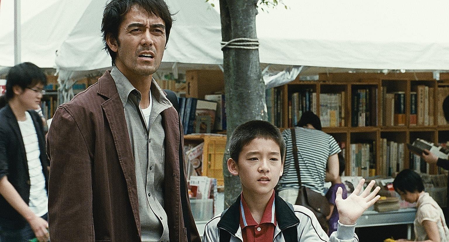 Family drama After The Storm stars Hiroshi Abe (left) and Taiyo Yoshizawa.