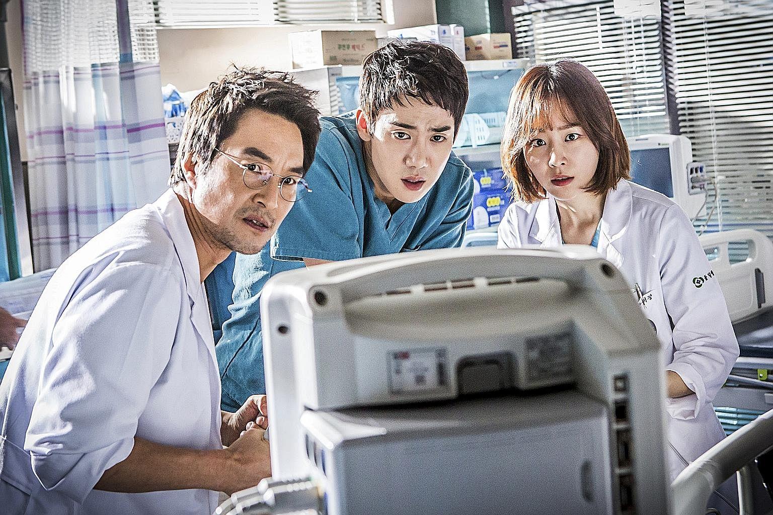 Legend Of The Blue Sea's Lee Min Ho and Gianna Jun; and Romantic Doctor, Teacher Kim's (from far left) Han Seok Kyu, Yoo Yeon Seok and Seo Hyun Jin.
