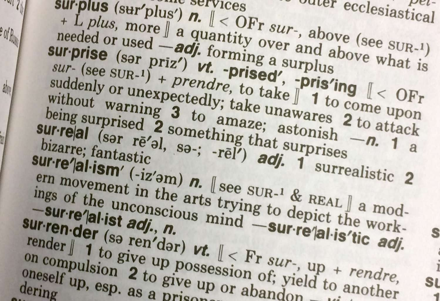 Surreal Declared Merriam Webster S 2016 Word Of The Year United