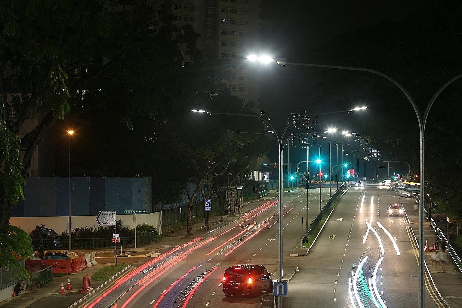 Lta installing smarter energy saving street lights singapore news top stories the straits times