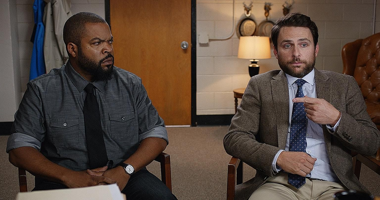 Ice Cube (left) and Charlie Day (right) are teachers locked in a feud in Fist Fight.