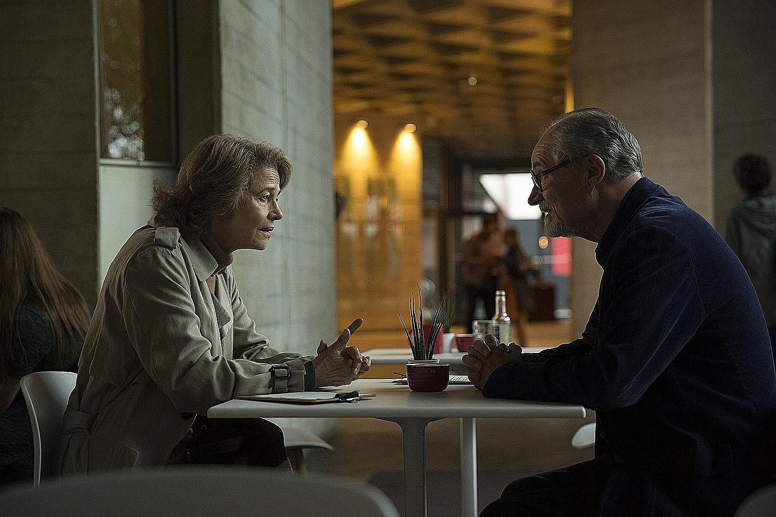 Jim Broadbent and Charlotte Rampling in The Sense Of An Ending.