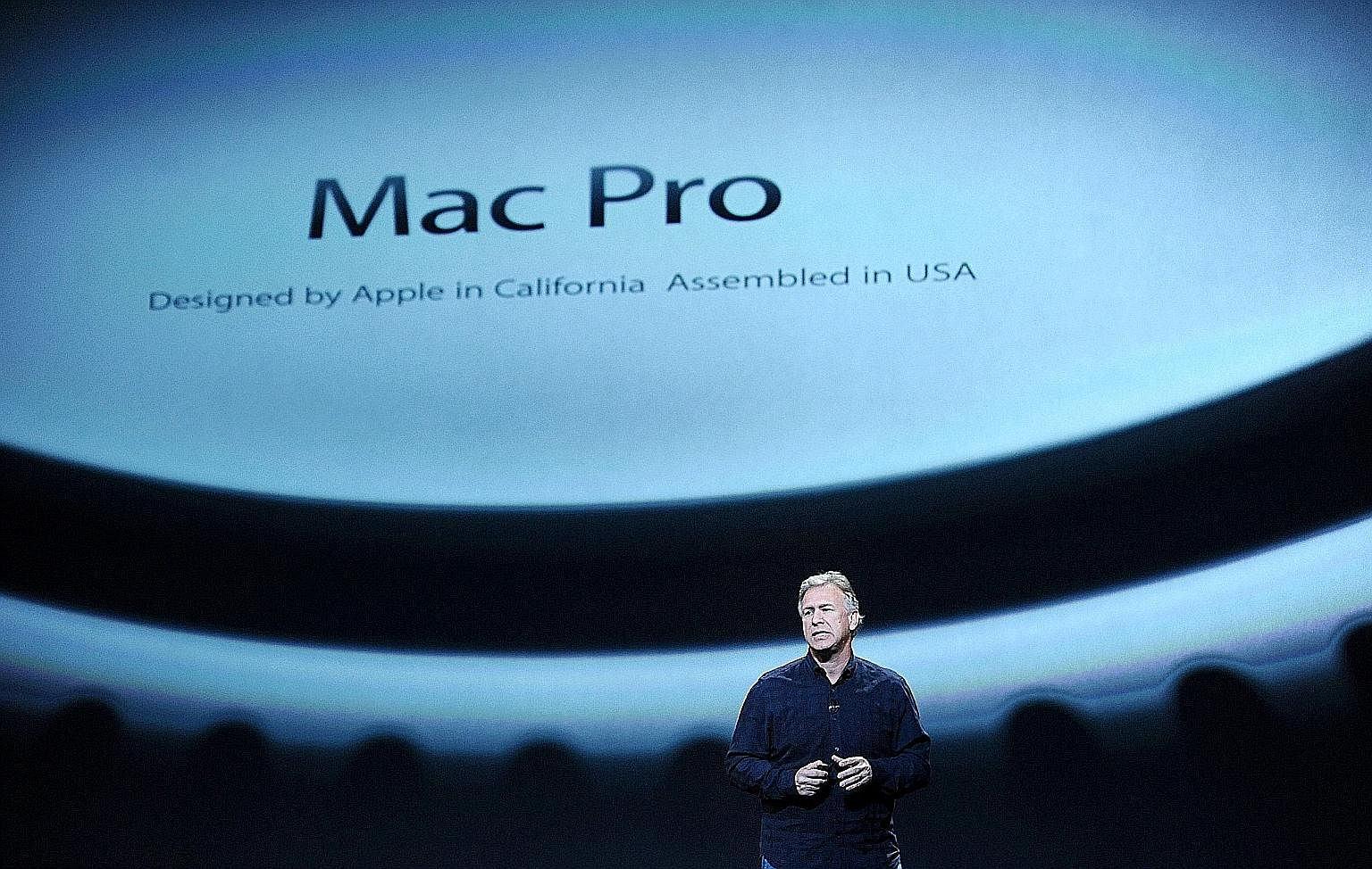 Mr Phil Schiller, Apple's senior vice-president of worldwide marketing, introducing the Mac Pro in October 2013. Last week, he and two of his senior colleagues revealed that the next Mac Pro will be modular.