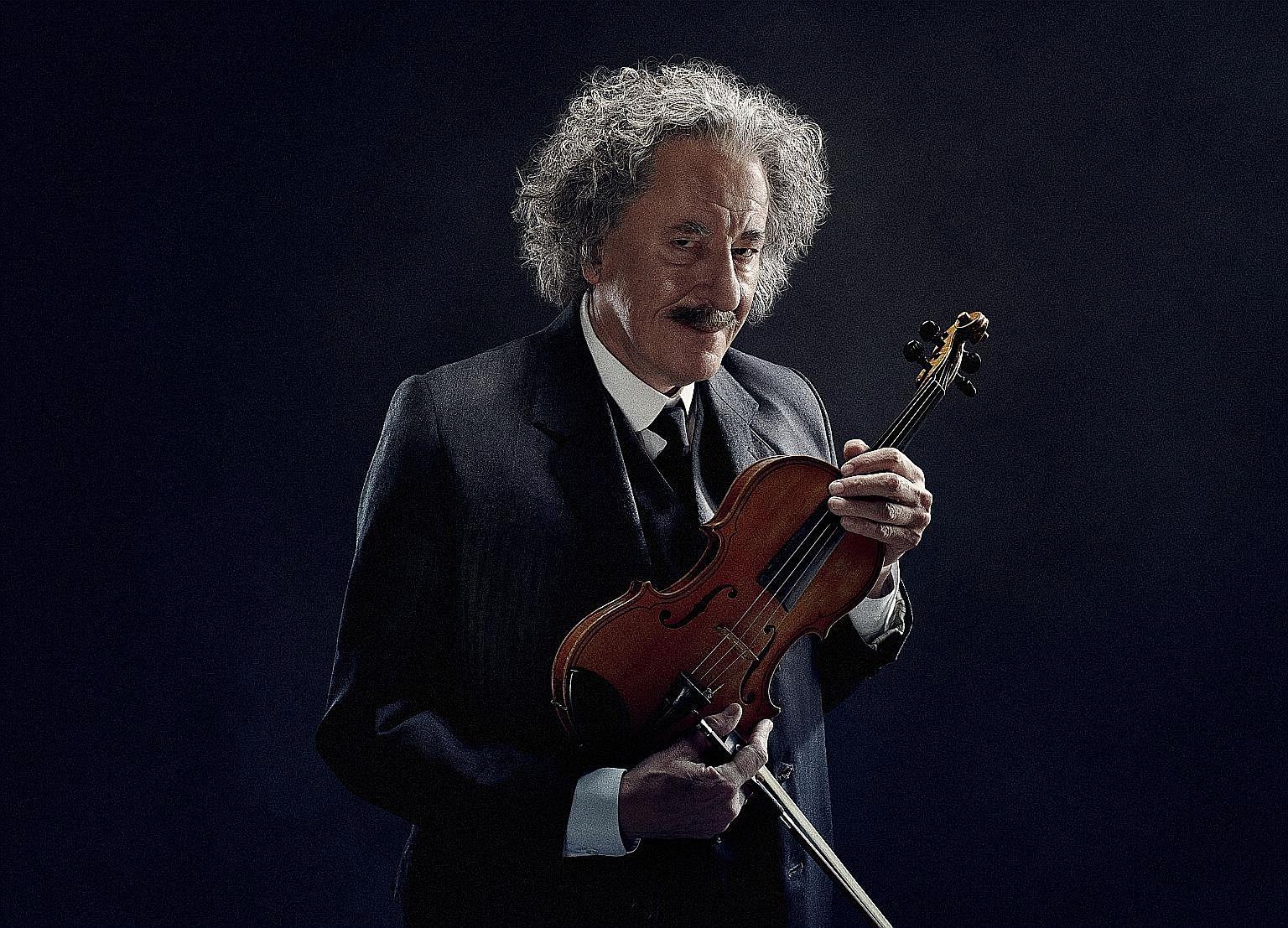 Geoffrey Rush as Albert Einstein in National Geographic Channel's drama, Genius.