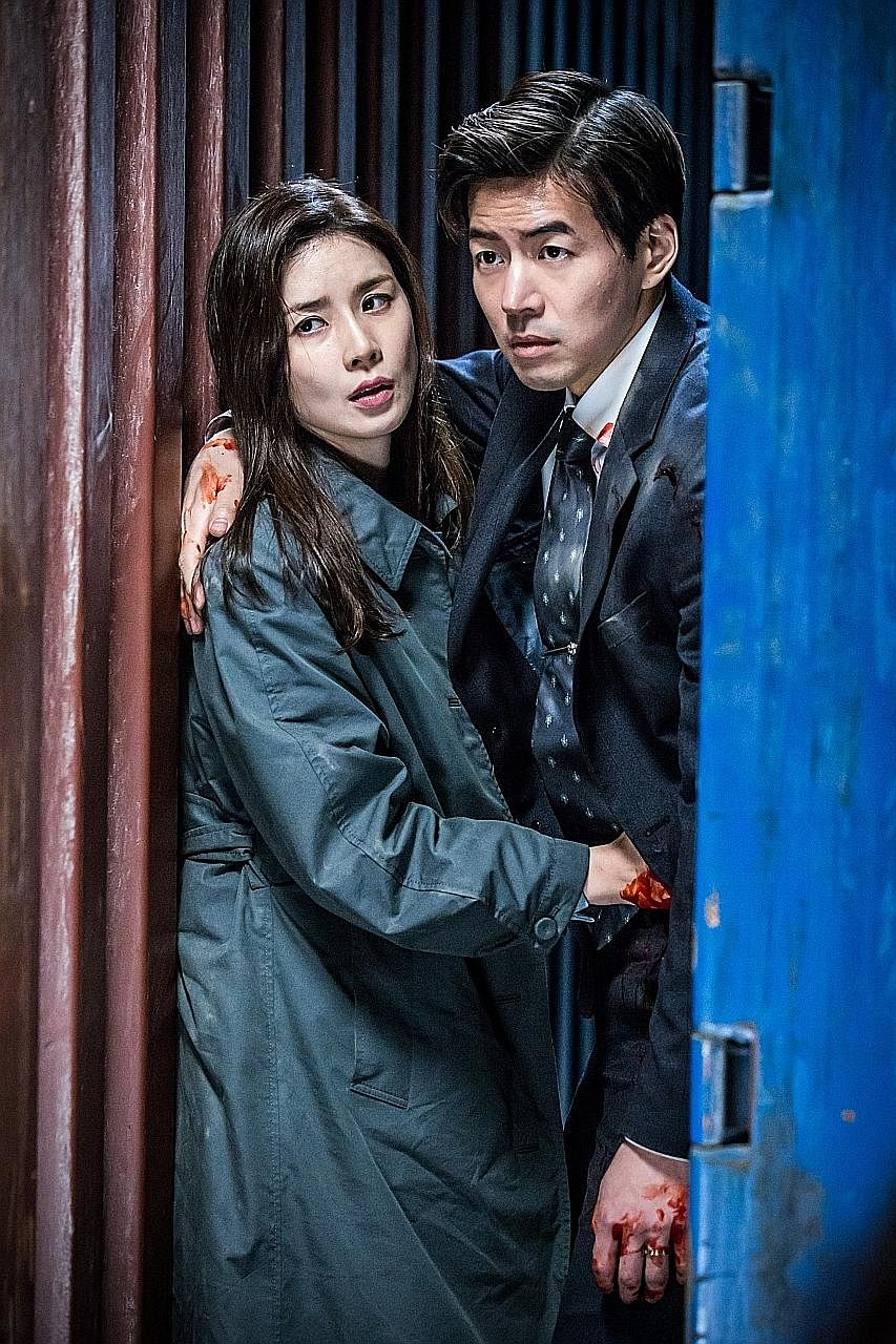 Lee Bo Young and Lee Sang Yun are a policewoman and a judge who have to play dirty to beat a corrupt legal system in Whisper.