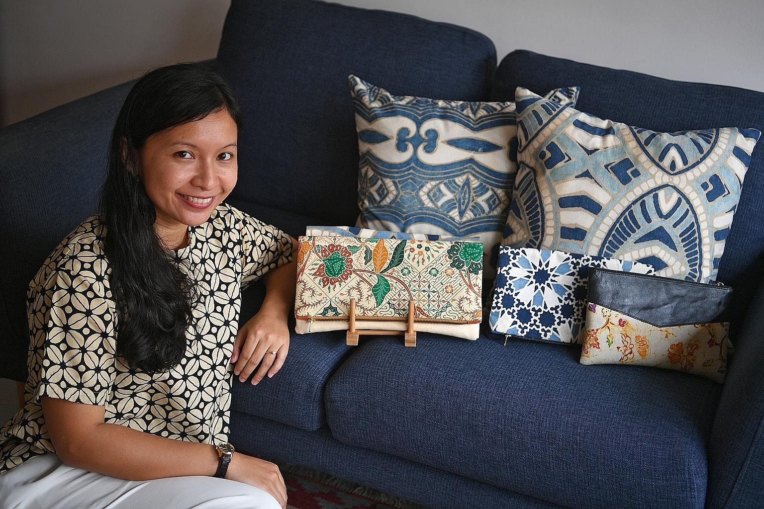 Ms Nur Aqilah Zailan designs and releases a new collection of batik clutches - her best-selling items - every two months under her label Gypsied. Each collection has up to 40 clutches.