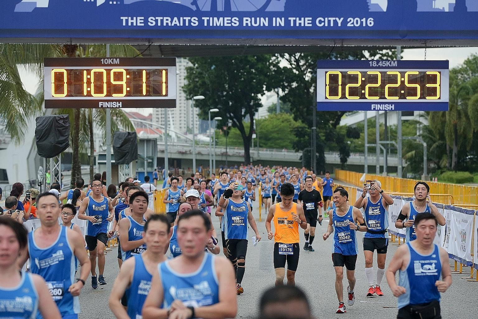 Participants at The Straits Times Run last year. Training for the run this year, to be held on July 16, gives one a clear goal to work towards, says the writer, as there is pressure to be ready. The closing date to sign up for the run has been extend