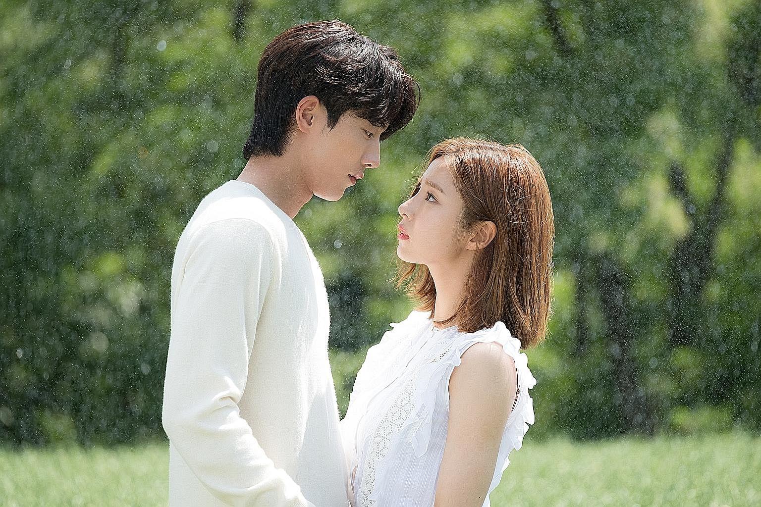 Nam Joo Hyuk (left) and Shin Sae Kyeong in The Bride Of Habaek.
