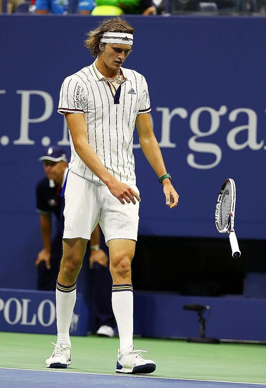 Tennis playerAlexander Zverev looking dapper in tube socks.