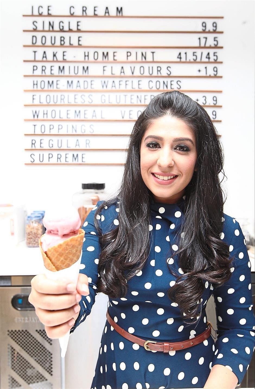 Ms Serina Bajaj says Kind Kones' bestsellers are mocha almond choc chip, salted chocolate chip, cinnamon toast and raspberry mango coconut sorbet.