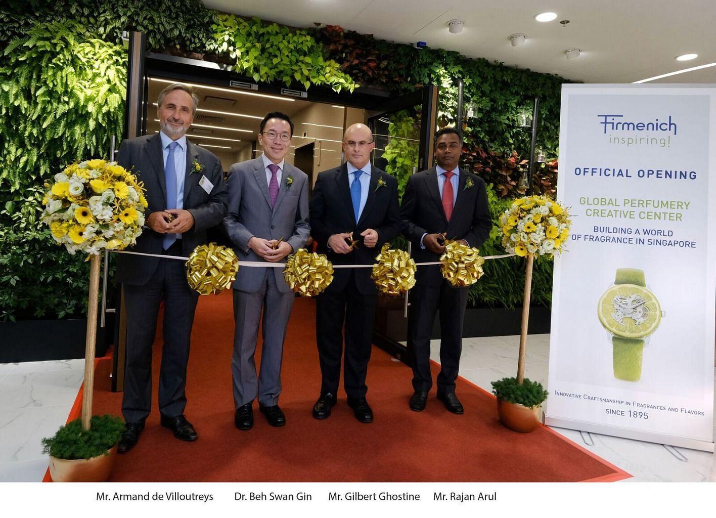Swiss fragrance company Firmenich expands Singapore presence