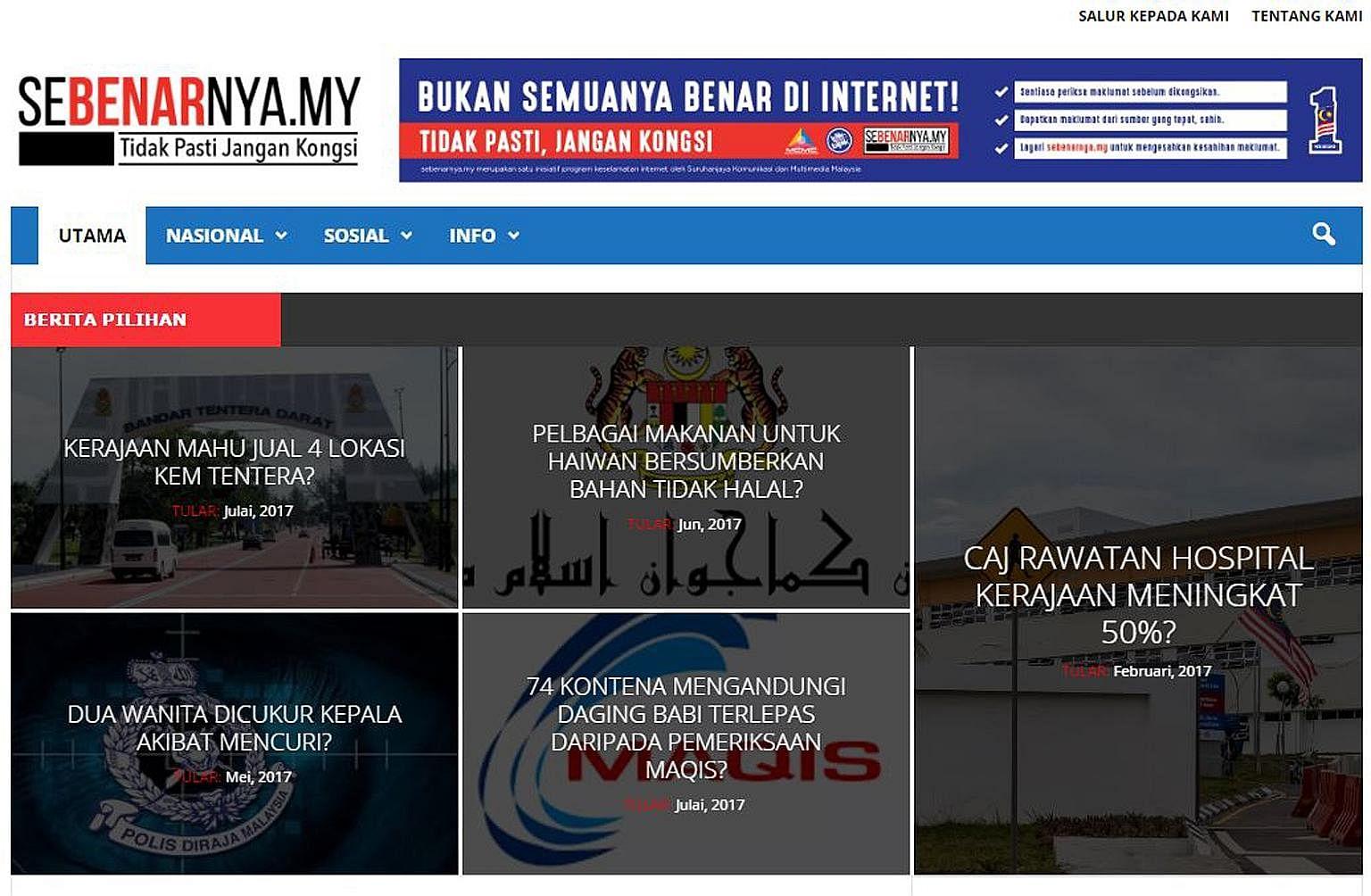 Malaysia set up fact-checking website Sebenarnya.my to verify the authenticity of news on social media.