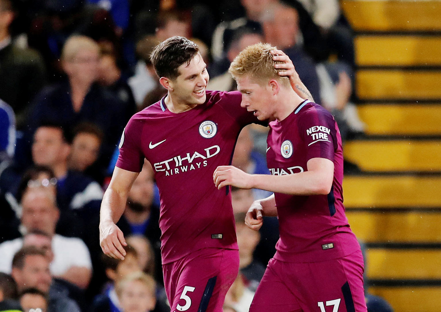Manchester City team-mates John Stones and Kevin de Bruyne will be on opposing sides at the World Cup Finals for England and Belgium.