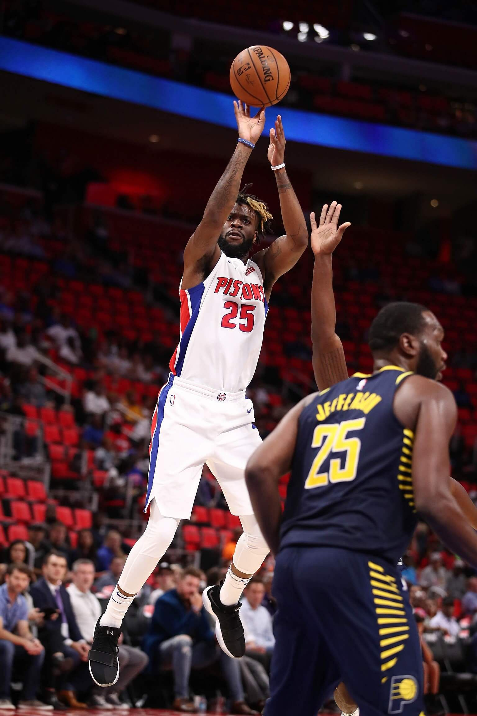 low priced 543f6 9f213 NBA: Detroit Pistons forward Reggie Bullock saves his best ...