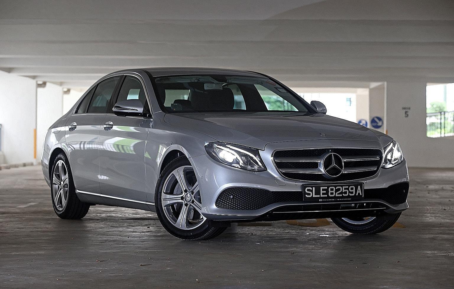 Mercedes-Benz E-class and BMW 5-series.