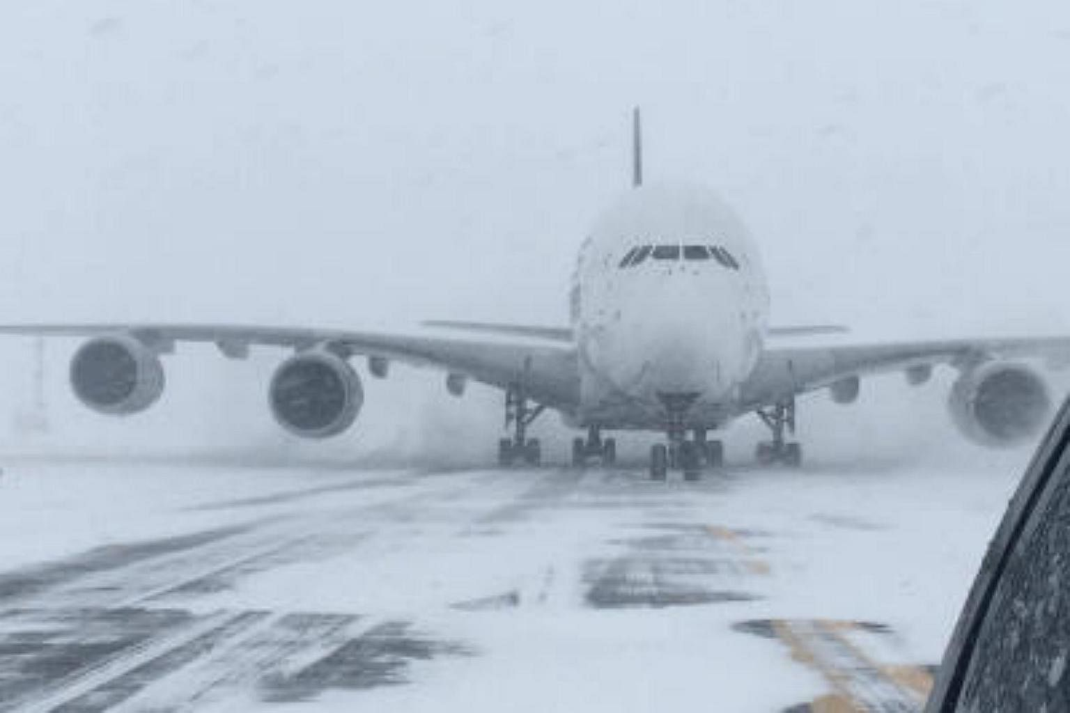 Singapore Airlines flight forced to land at small New York airport ...
