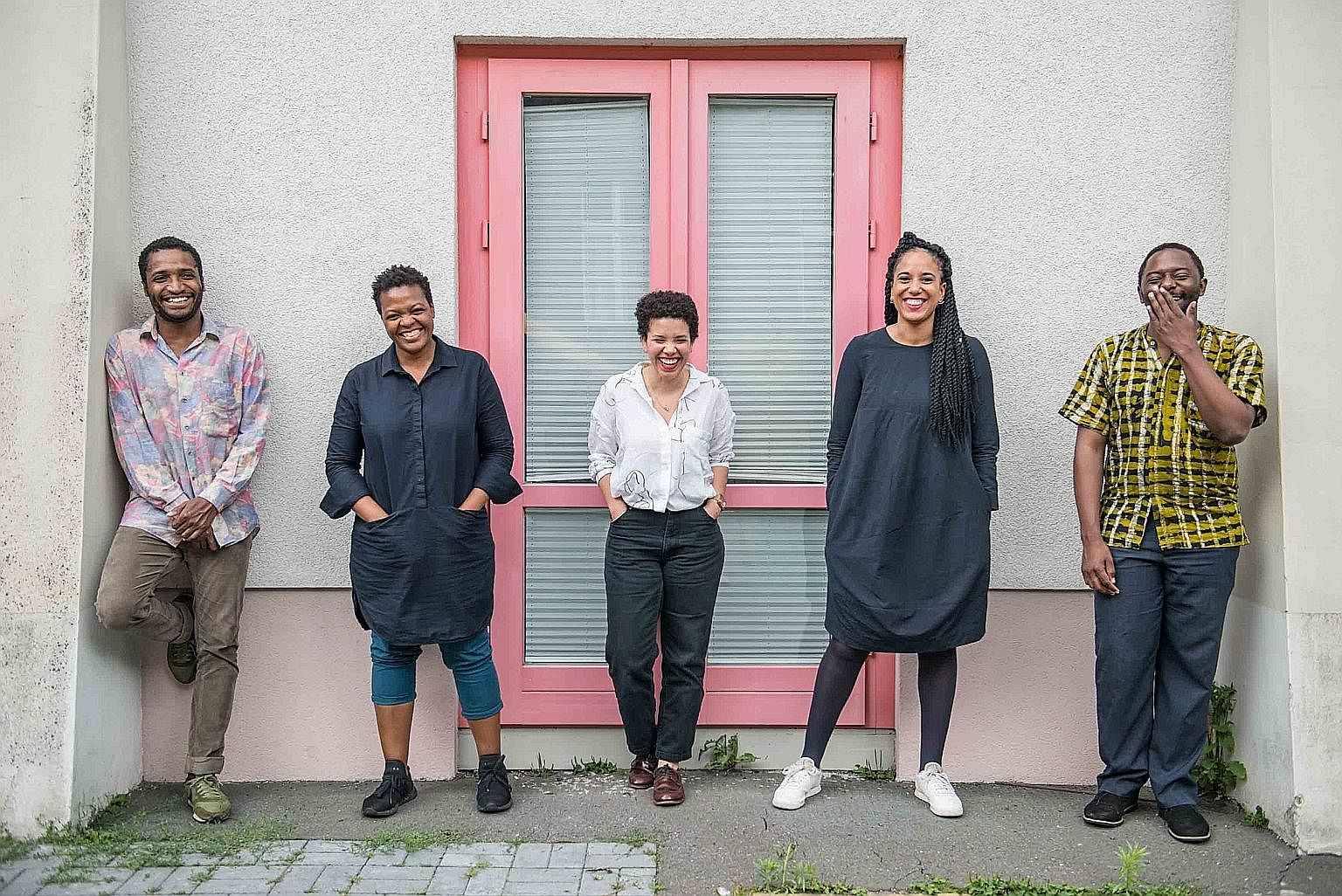 The curatorial team of the 10th Berlin Biennale for Contemporary Art (from far left) Thiago de Paula Souza, Gabi Ngcobo, Nomaduma Rosa Masilela, Yvette Mutumba and Moses Serubiri. The Shanghai Biennale will take place in the city's Power Station Of A