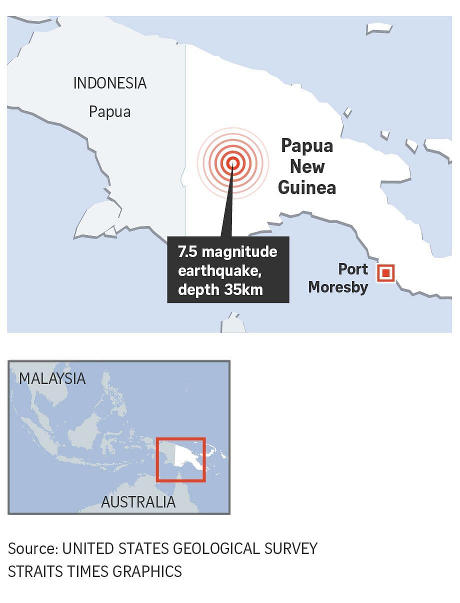 7 5-magnitude earthquake hits Papua New Guinea, disrupts oil