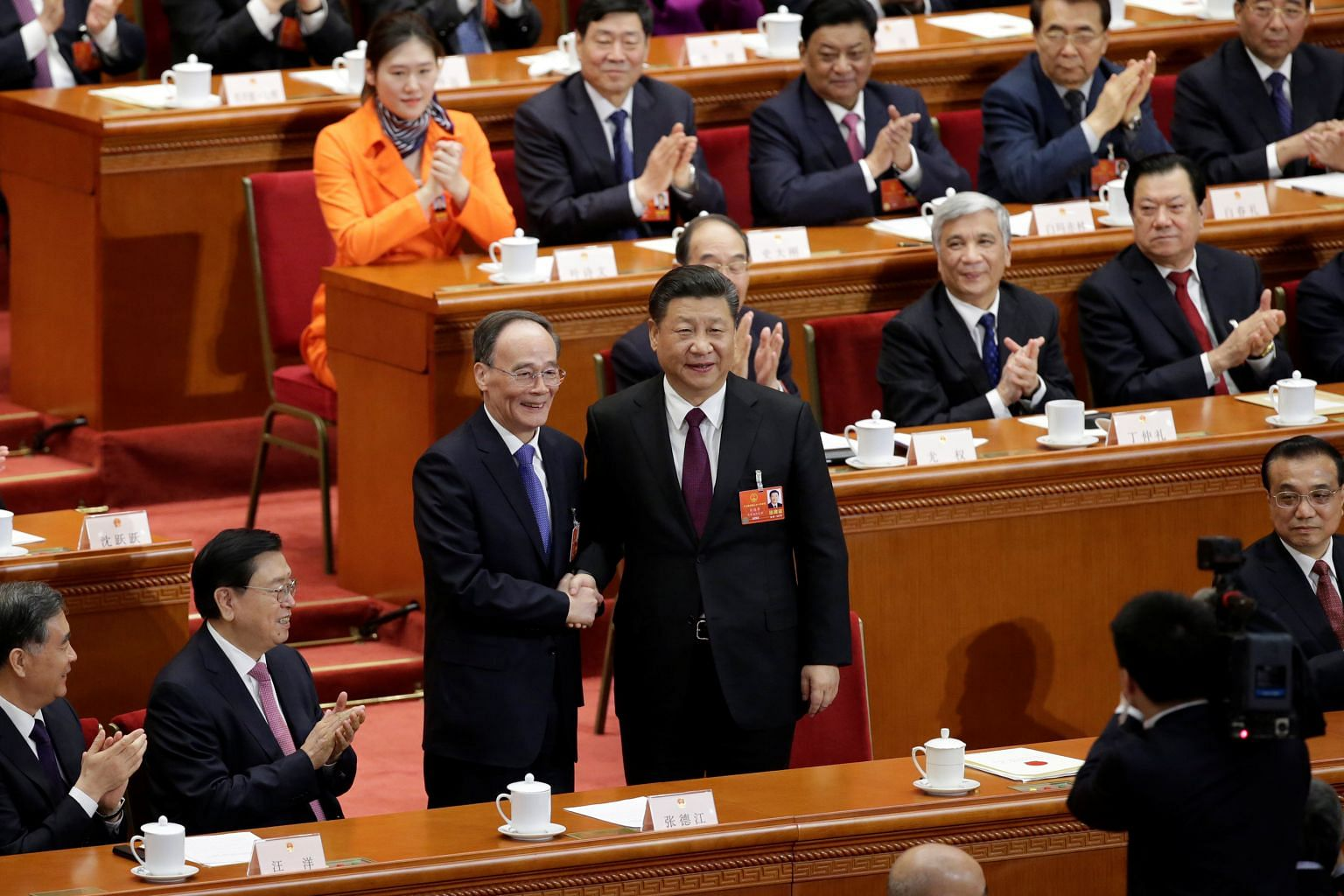npc 2018 china s parliament unanimously re elects xi jinping as