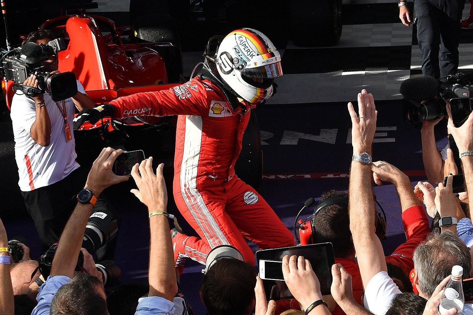 Vettel gets his party, Formula One News & Top Stories - The