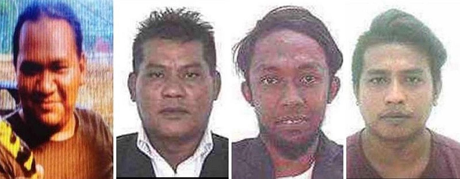 Terror suspects Awae Wae-Eya, Muhamad Hanafi Yah, Nor Farkhan Mohd Isa and Muhamad Faizal Muhamad Hanafi are still at large.