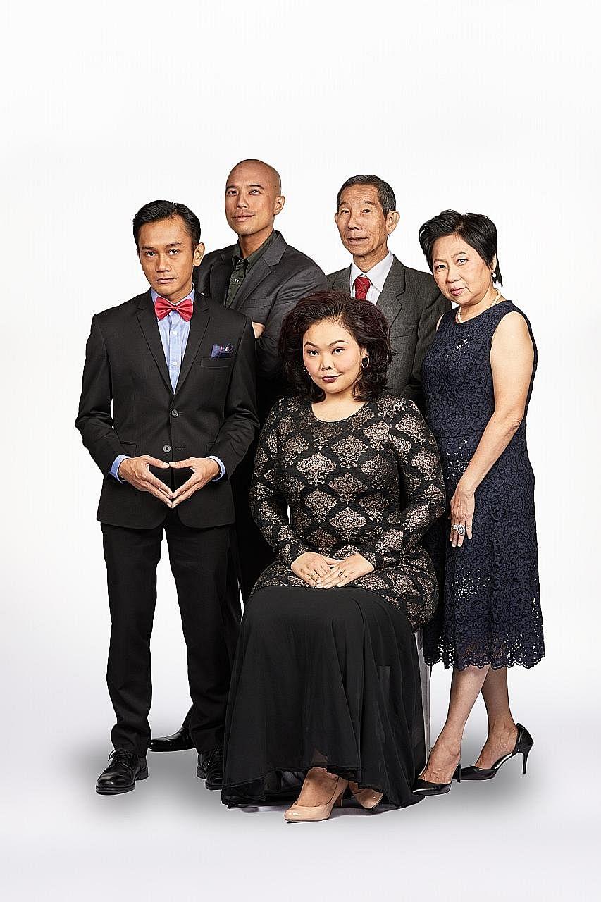 The cast of Underclass comprises (clockwise from left) Yazid Jalil, Brendon Fernandez, Yang Shi Bin, Goh Guat Kian and Siti Khalijah Zainal.