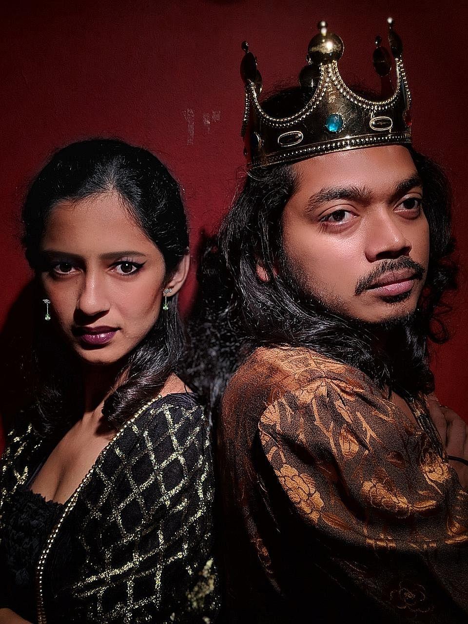 Anna Jos plays Lady McBeth and Farhan Ahmed is McBeth in McBeth, a parody of Shakespeare.