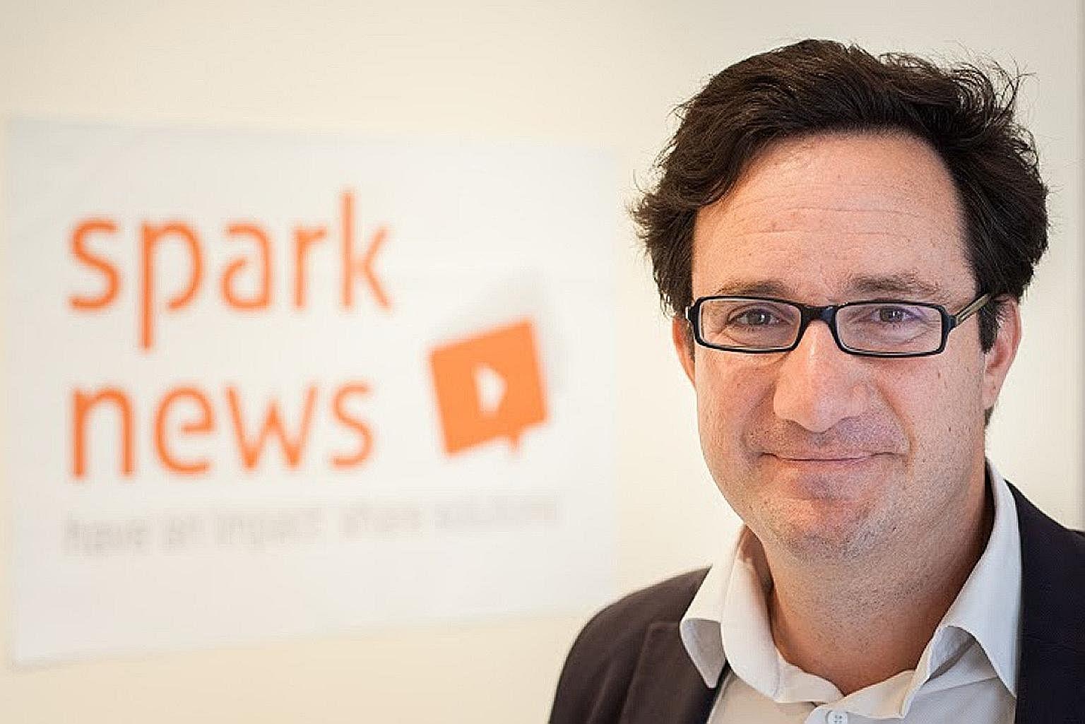 Christian de Boisredon Founder of Sparknews and Ashoka Fellow & the Sparknews Team