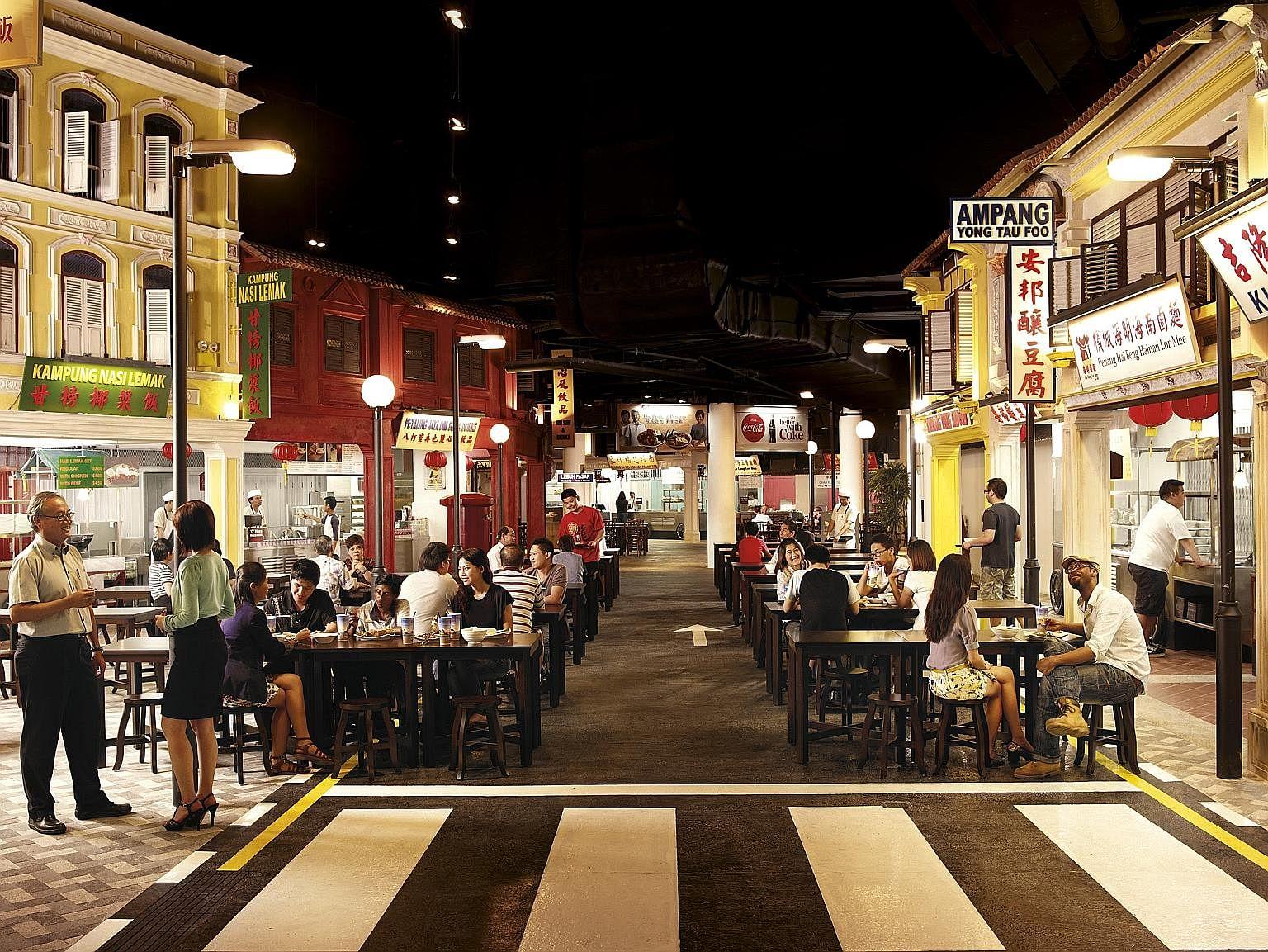 Malaysian Food Street at Resorts World Sentosa.