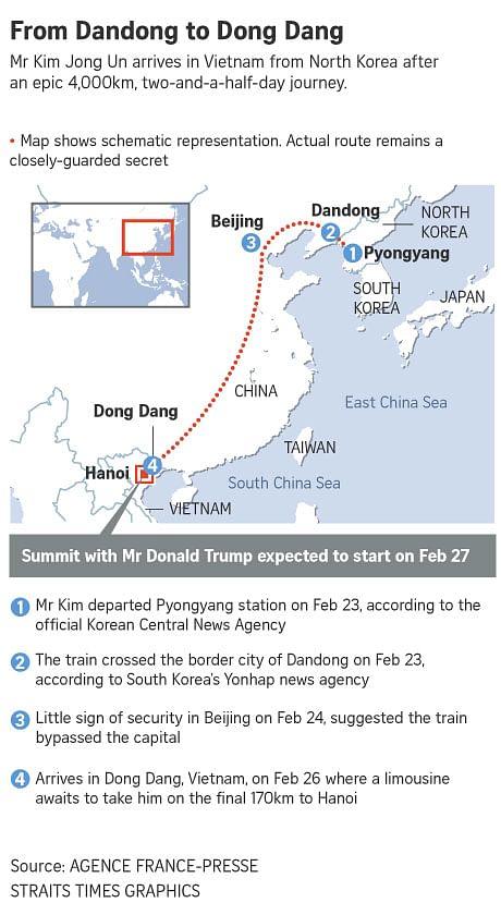 North Korean leader Kim Jong Un hits the road in Hanoi ahead ...