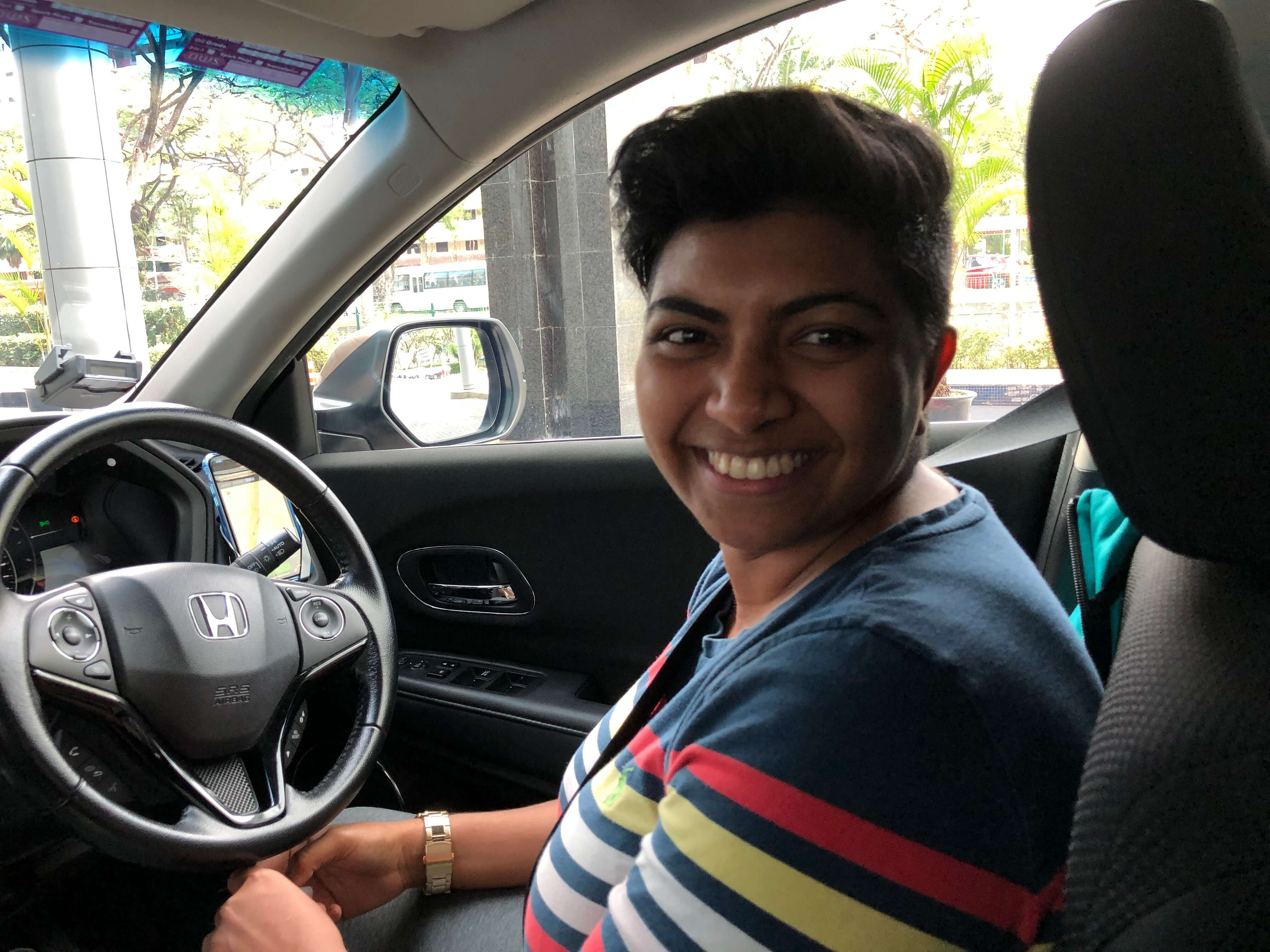 Grab driver-partner Suhanti Thangarajoo
