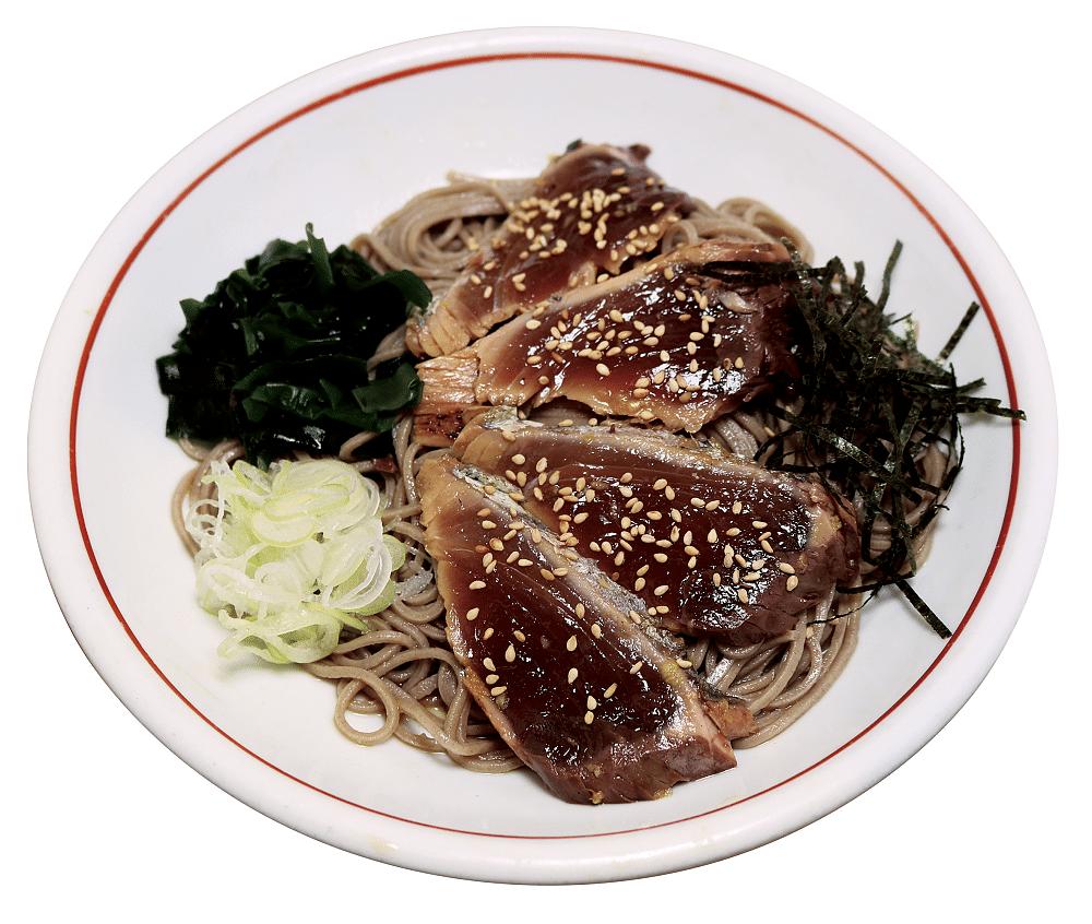 Katsuo Tataki (marinated seared bonito) Soba.