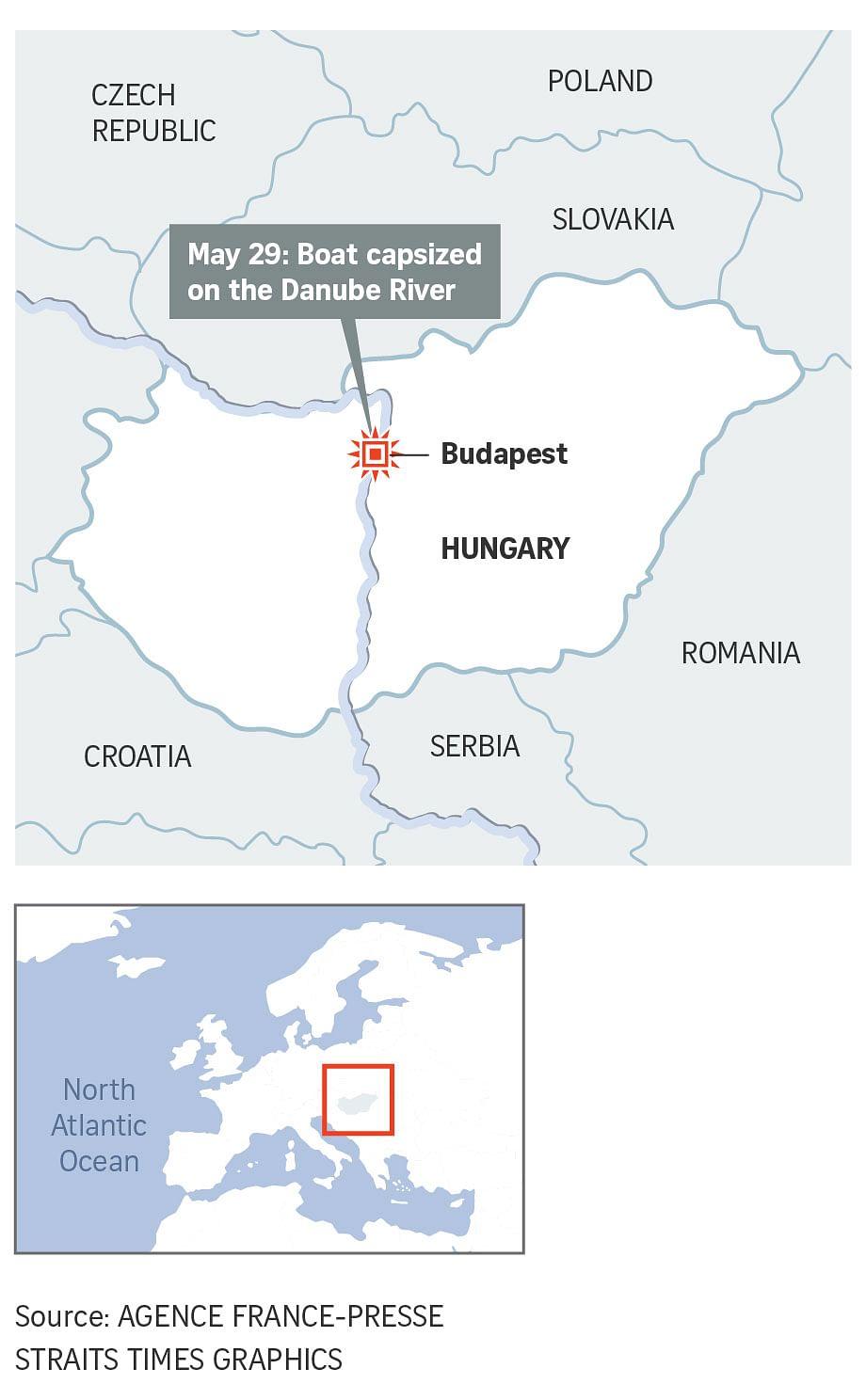 Seven South Koreans dead, hope dims for missing in Budapest