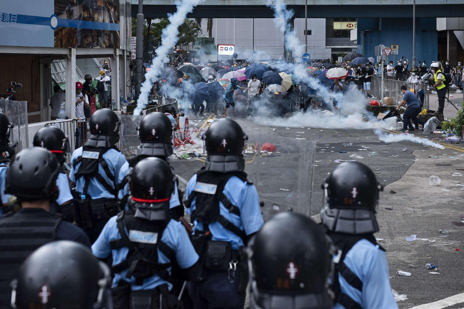 Hong Kong leader Carrie Lam calls extradition law protests