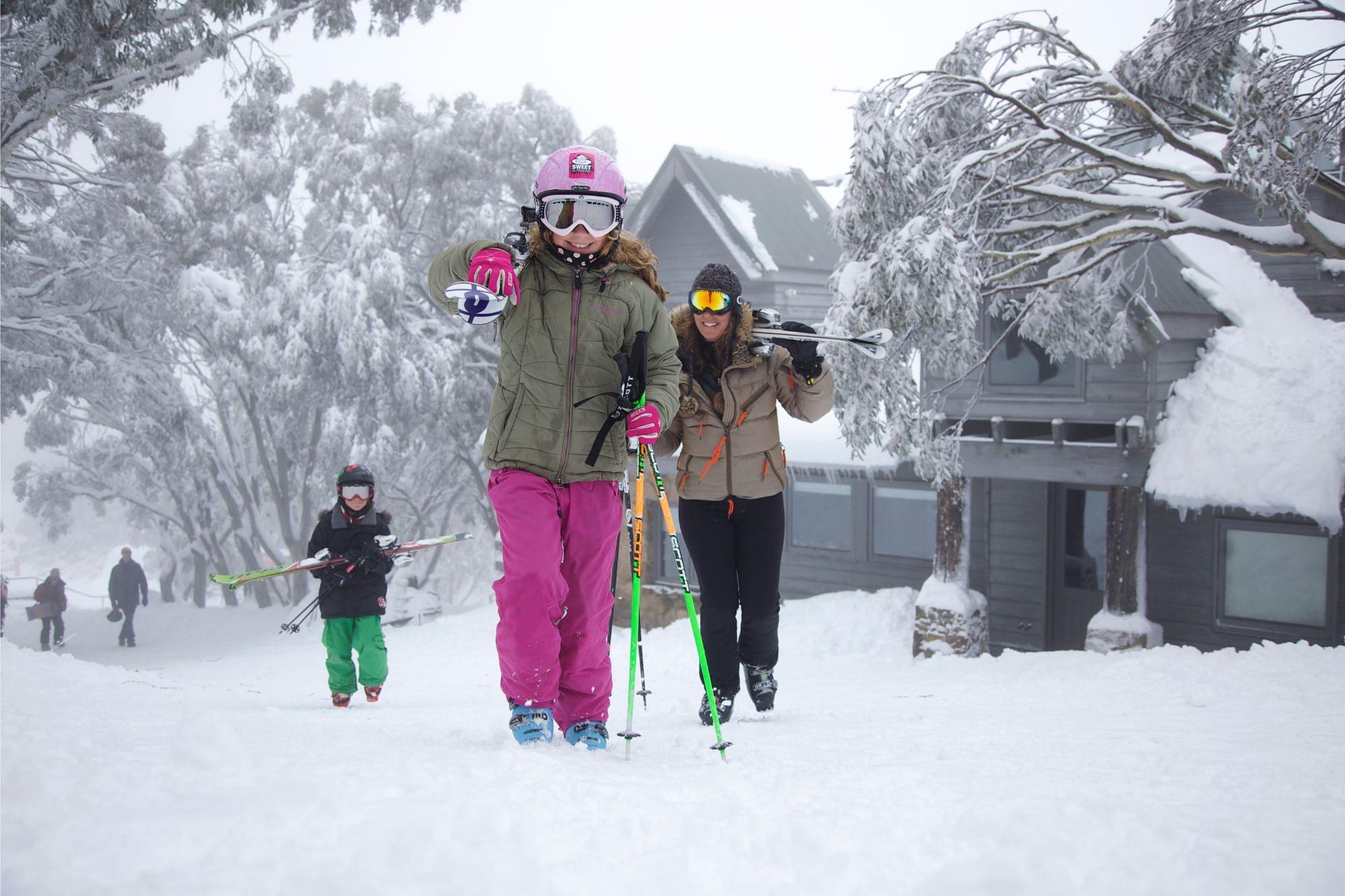 Skiing in Mount Buller, Victoria, Australia
