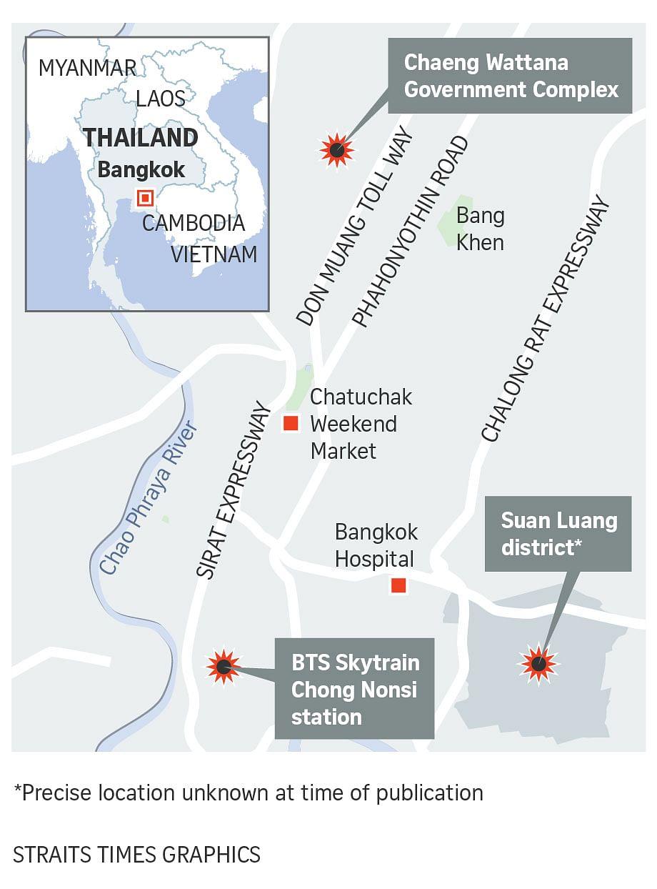 4 injured after multiple blasts hit Bangkok as Thailand