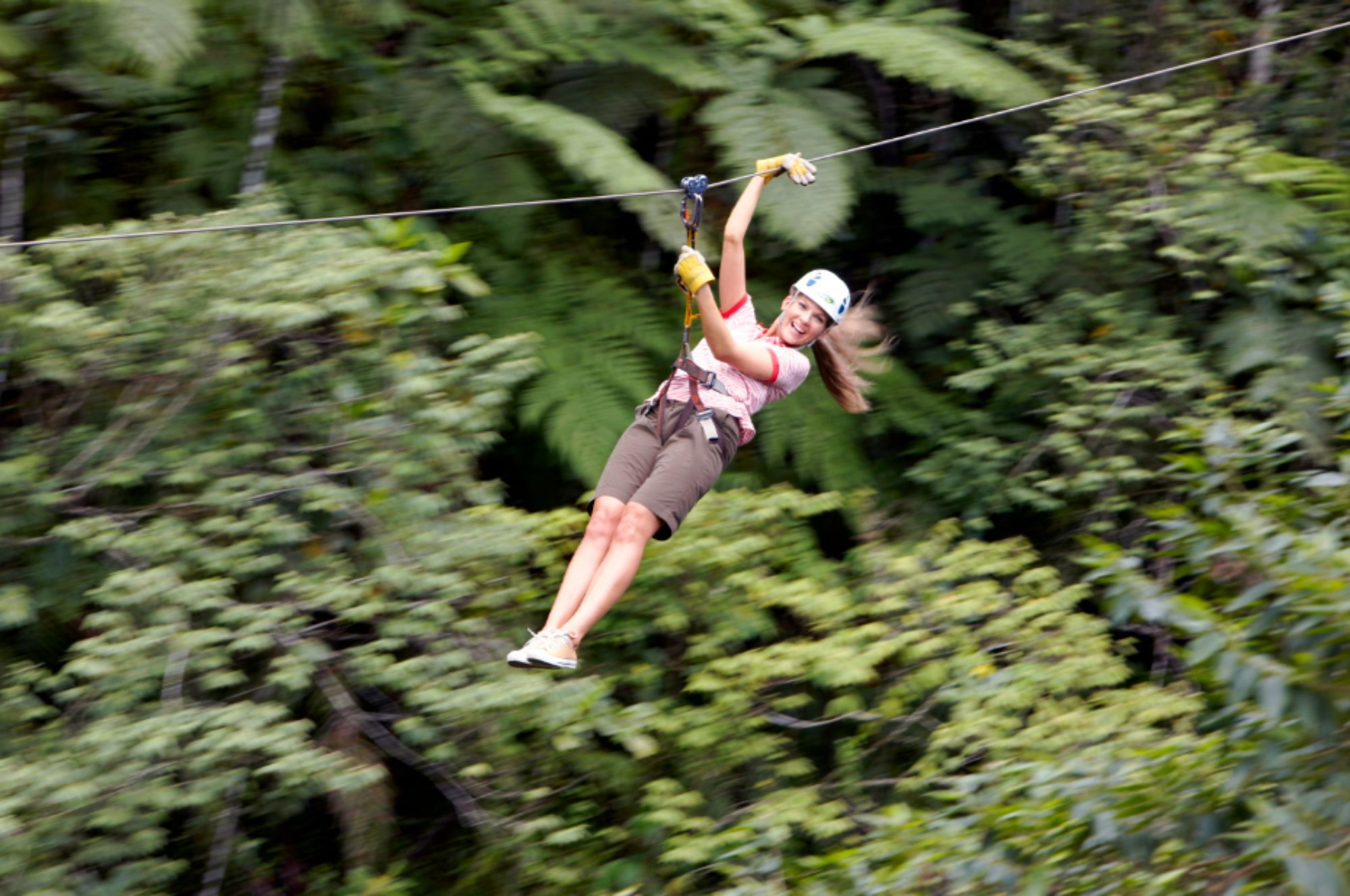 Ziplining adventure in Fiji