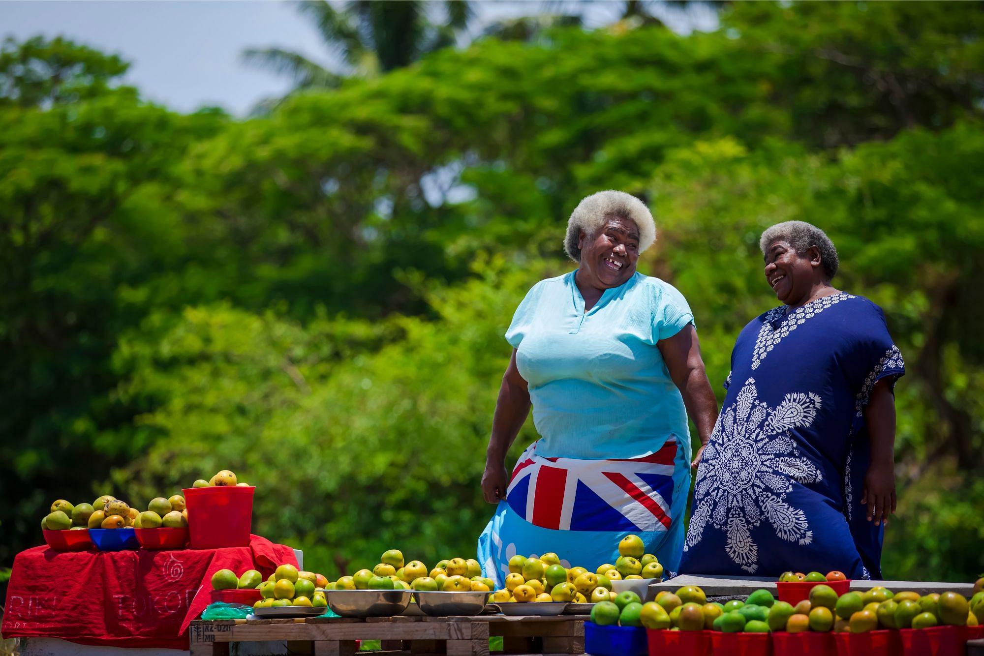 Locals in Fiji Happiness
