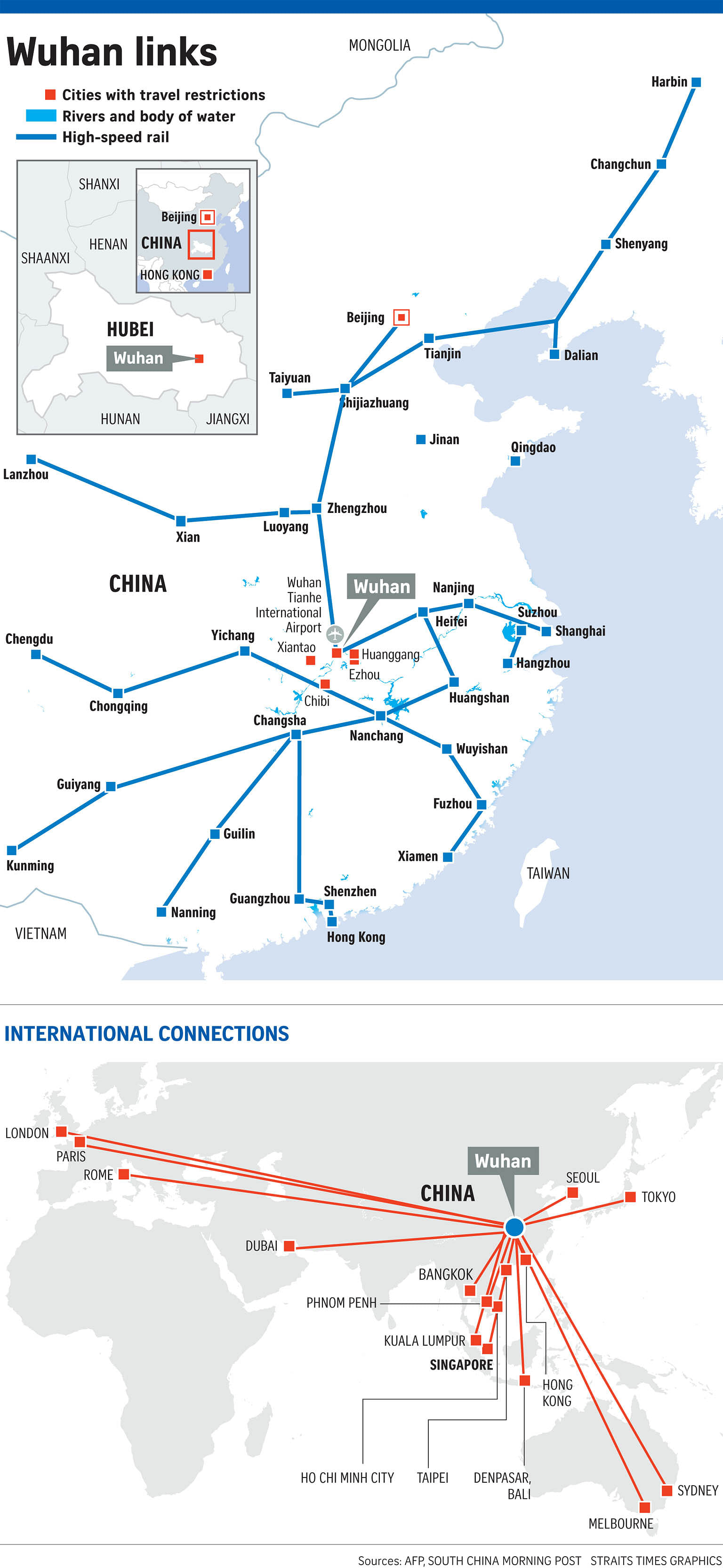 where is wuhan china located