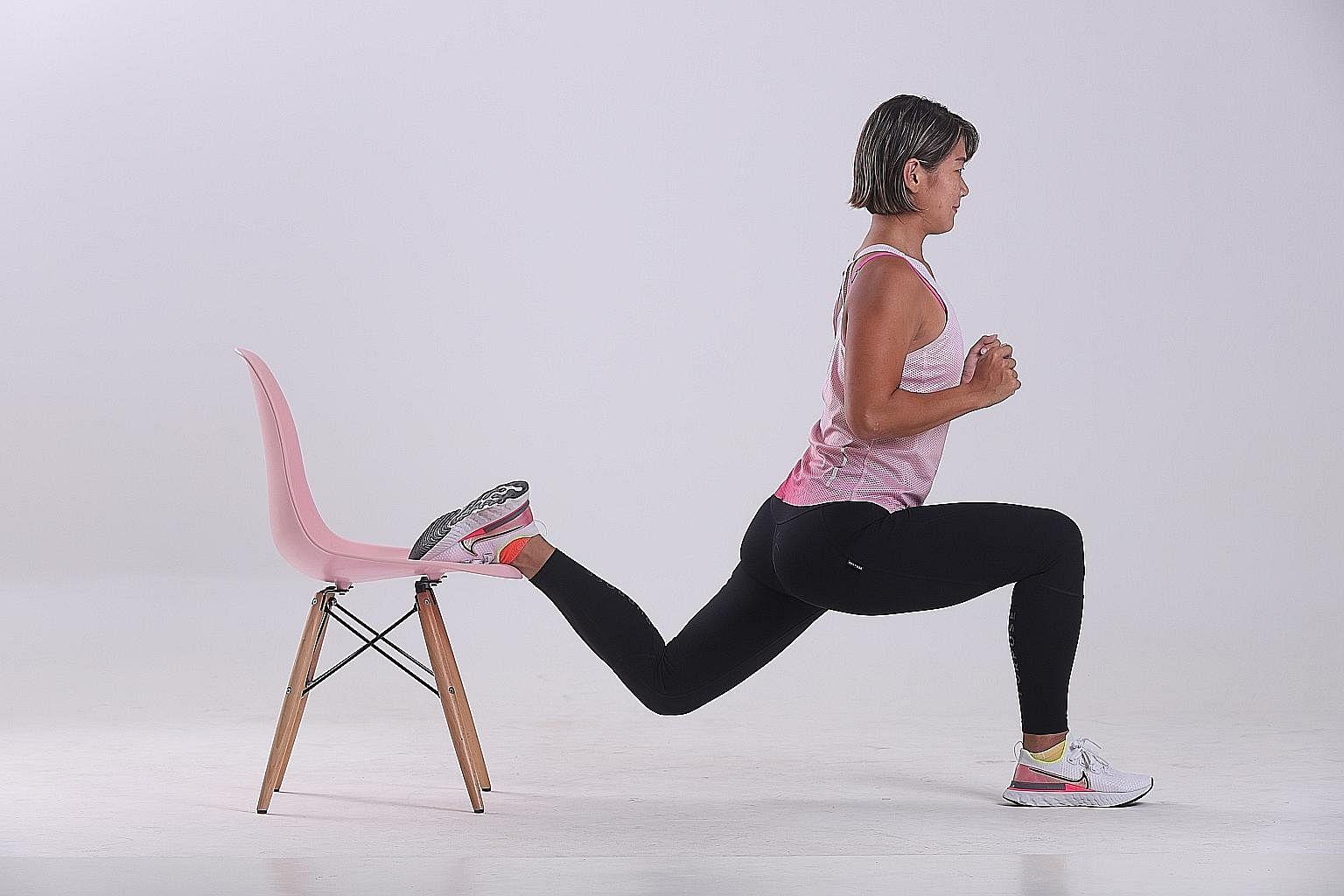 Bulgarian split squats.