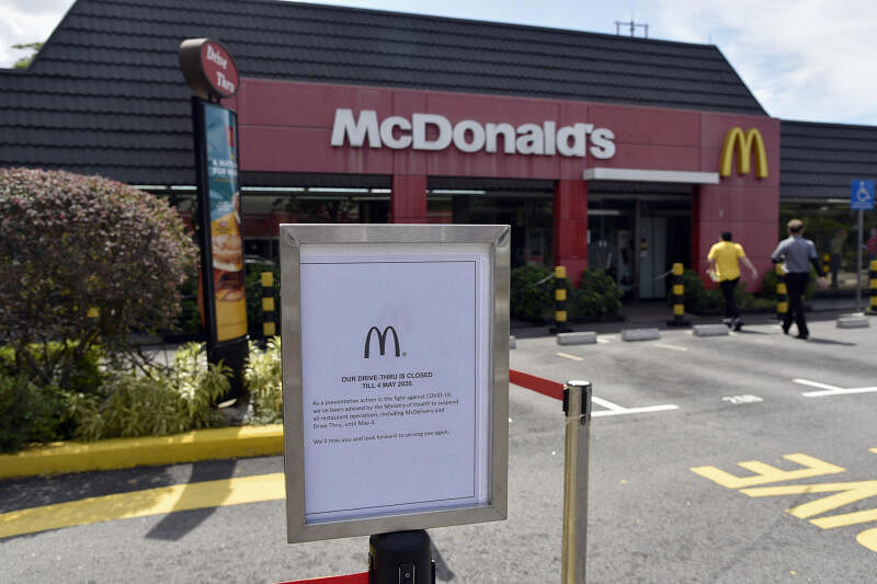 McDonald's Singapore suspends all restaurant operations, including ...