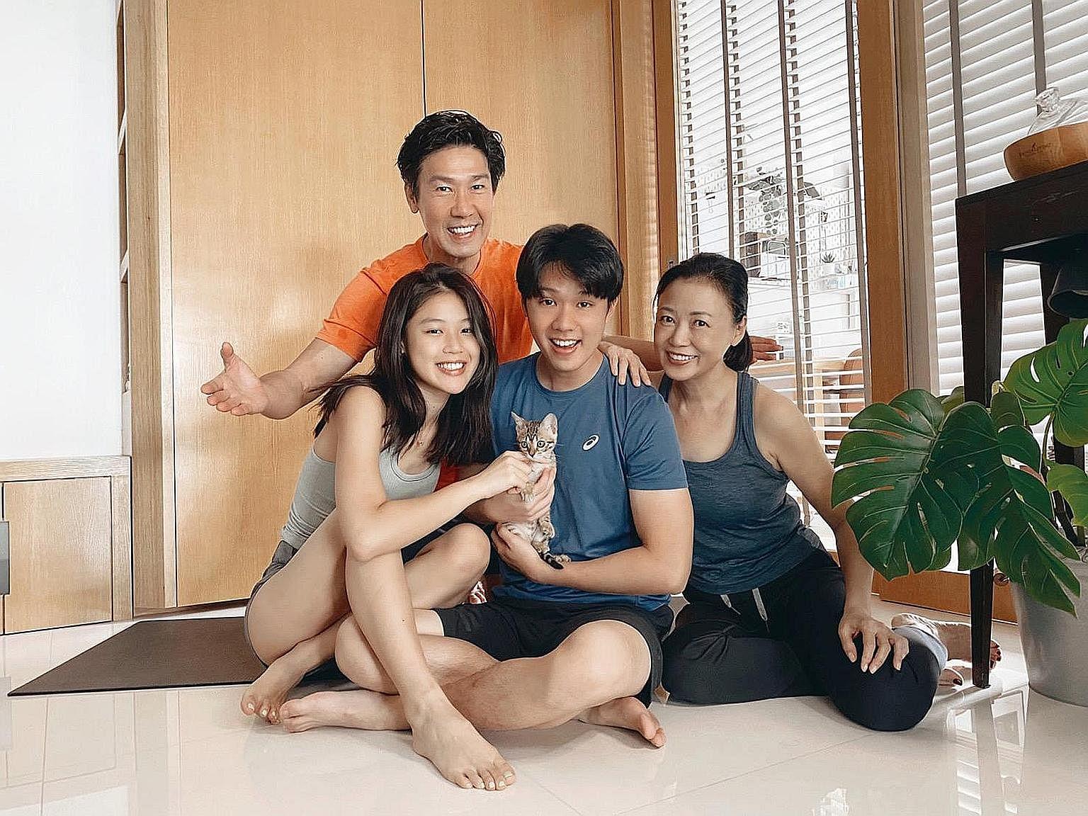 Le disjoncteur a lancé une campagne de santé pour Xiang Yun, Edmund Chen et leur fils Yixi et leur fille Yixin.